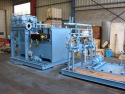 machine hydraulique en maintenance